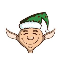 Smiling elf on white vector
