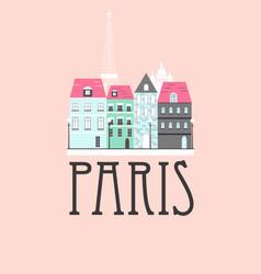 Paris travel background vector