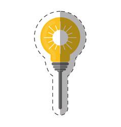 environment bulb sun energy design vector image
