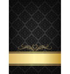 Black celebrate card vector image