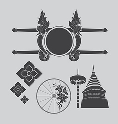 Thailand northern art design vector