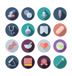 Flat Design Icons For Medical and Health Care vector image