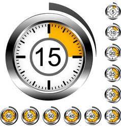 Chrome round timers vector