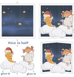 3D Christmas post card vector image
