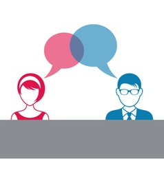 Man and woman dialog icon vector