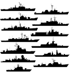 Frigates and corvettes vector