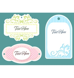 set of three labels vector image