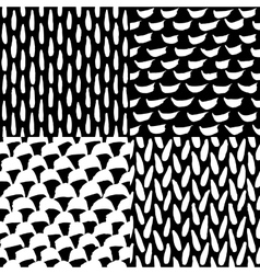 Seamless ink and brush pattern vector