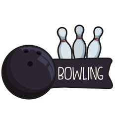 Bowling icons design vector