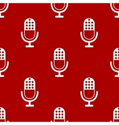 Microphone icon pattern vector image