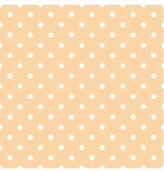 Tile pattern white polka dots on coral background vector