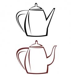 kettle teapot vector image
