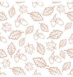 autumn oak leaves pattern vector image vector image