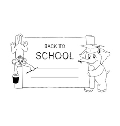 Back to School Hand Draw vector image
