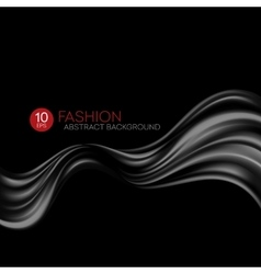 Black flying silk fabric Fashion background vector image vector image