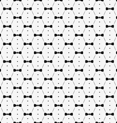 Bow tie with buttons and shirt seamless pattern vector image vector image