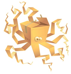 boxtopus vector image vector image