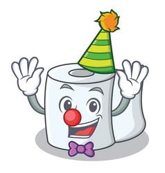 clown tissue character cartoon style vector image
