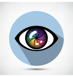 Cyber Eye Icon vector image