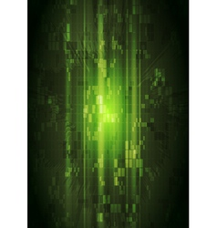 Dark green hi-tech design vector image vector image