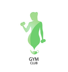 Fitness club logotype vector