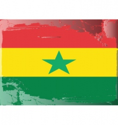ghana national flag vector image vector image
