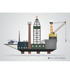 Isolated oil platform vector