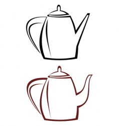 kettle teapot vector image vector image
