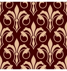 Medieval floral seamless pattern of fleur-de-lis vector