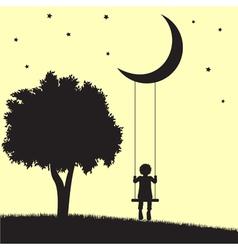 Moon swings vector