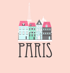 Paris travel background vector