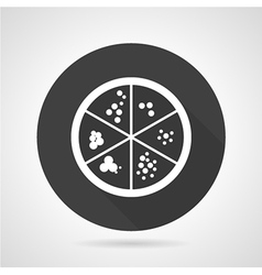 Petri dish black round icon vector