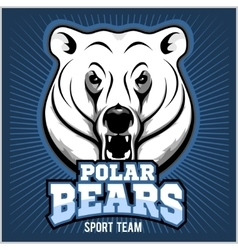 Polar Bear Head mascot - vector image