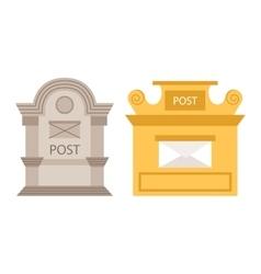 Post mailbox vector image