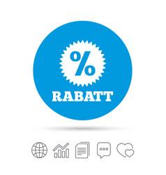 Rabatt - discounts in german sign icon star vector