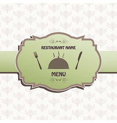 restaurant menu label brochure design element vector image