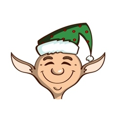 Smiling Elf On White vector image