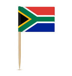 South africa flag toothpick on white background vector