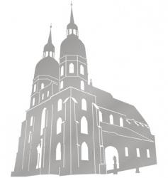 st nicolas church vector image vector image
