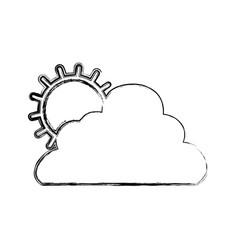 Sun cloud weather vector