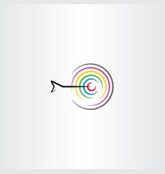 target with arrow symbol logo sign vector image