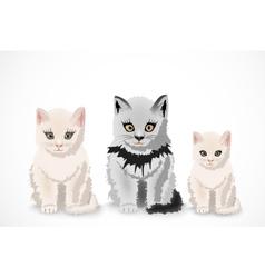 Three cats family vector