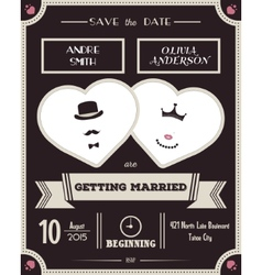 Wedding invitation Vintage card the template vector image vector image