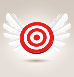 Target with wings vector image