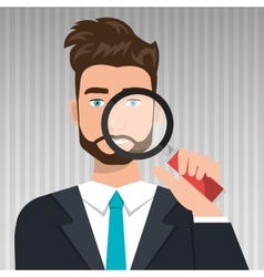 Man search icon vector