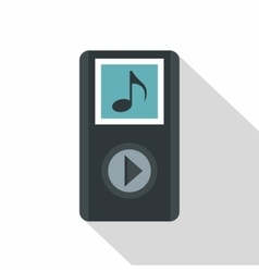 Audio player icon flat style vector