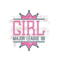 Girl sport emblem vector