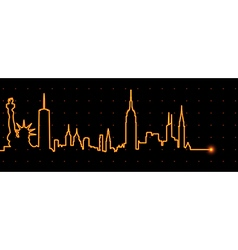 New york cardiogram vector