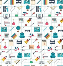 Seamless school pattern back to school flat design vector