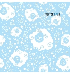 Seamless texture with cute sheep vector